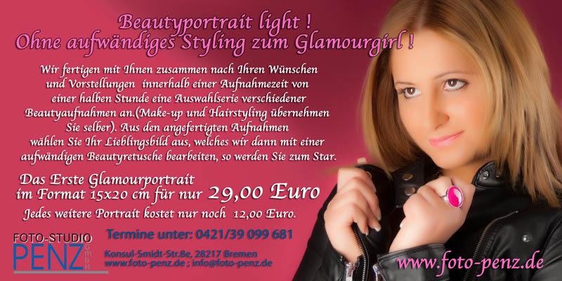 Glamourportrait für 25 Euro